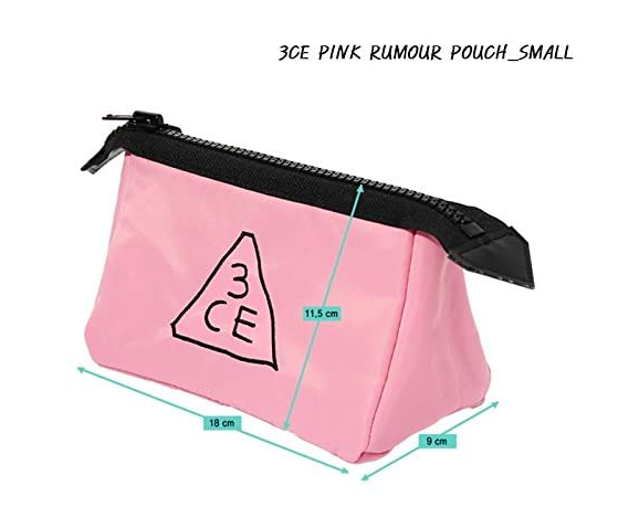 3CE Pink Rumour Pouch Small