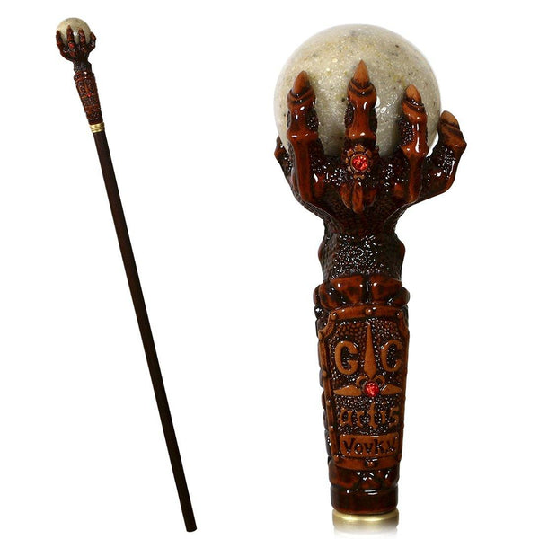 Dragon Claw with Marble Energy ball Walking Cane Stick - GC-Artis Walking Sticks Canes