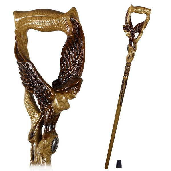 Gamayun Garpia Paradise BIRD Cane walking stick - GC-Artis Walking Sticks Canes