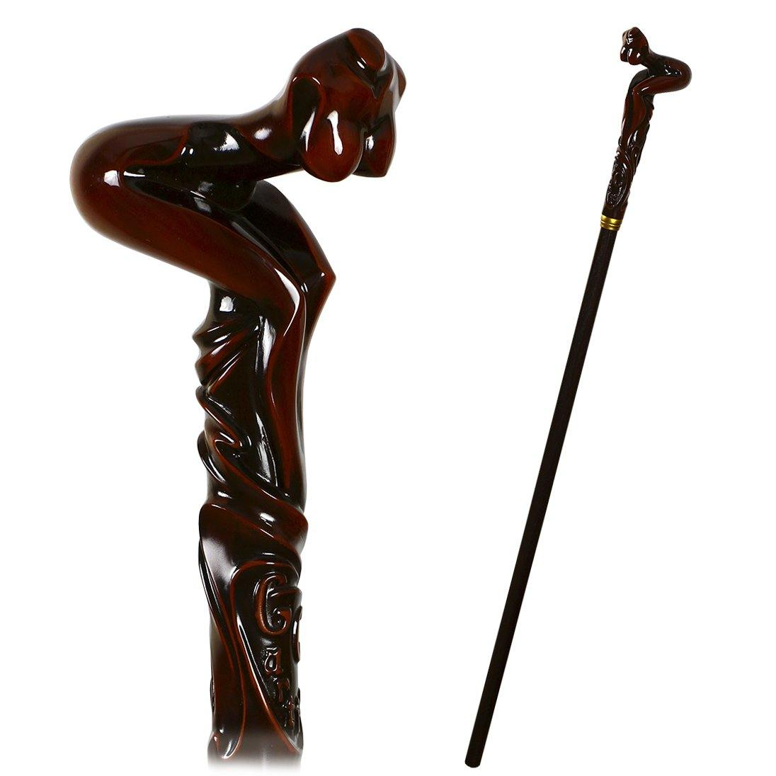 Naked Sexy Girl Erotic Cane Walking Stick - GC-Artis Walking Sticks Canes