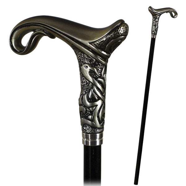Designer Silver Color MAGIC Walking cane stick - GC-Artis Walking Sticks Canes