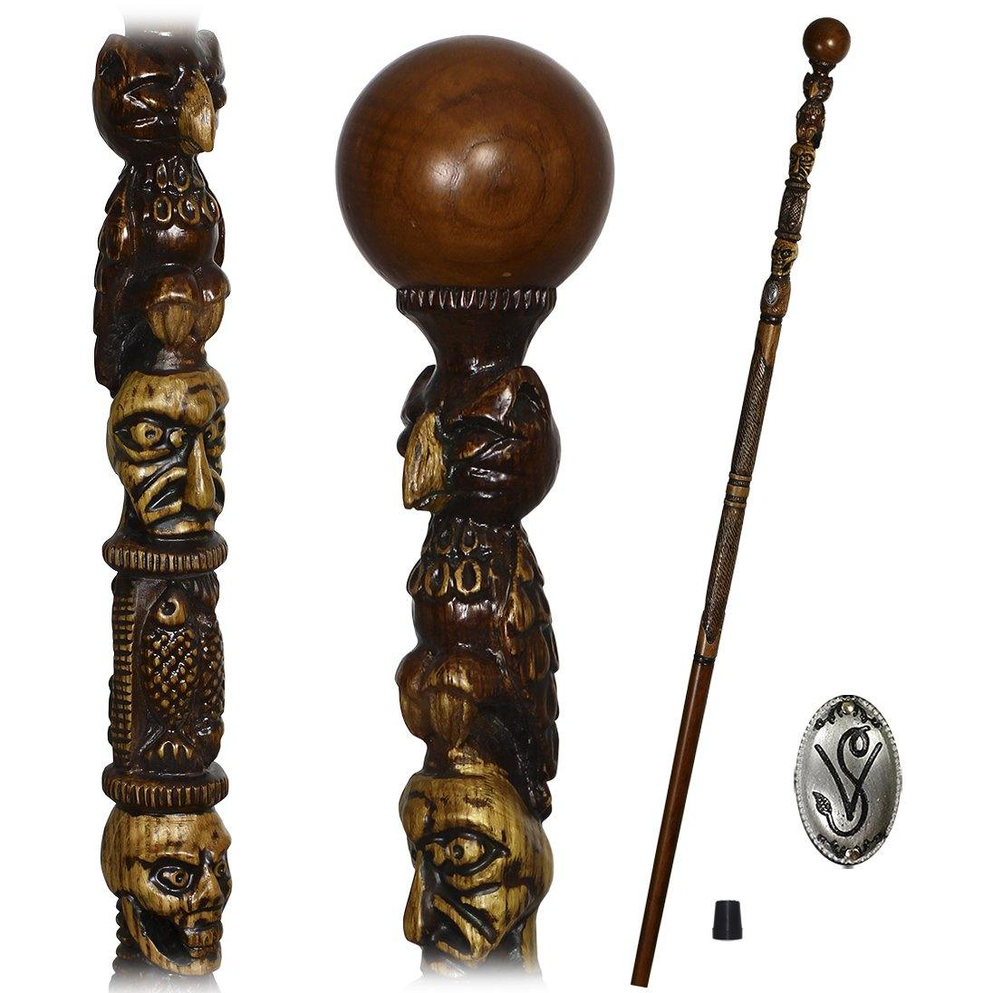 OWL & Skull Walking Cane Hiking Stick Staff Trekking Pole - GC-Artis Walking Sticks Canes