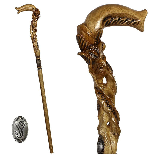Rose  Flower Light wooden walking stick cane - GC-Artis Walking Sticks Canes
