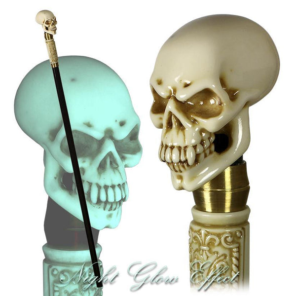 NIGHT GLOWING! Lighting Skull Walking Cane Stick - GC-Artis Walking Sticks Canes