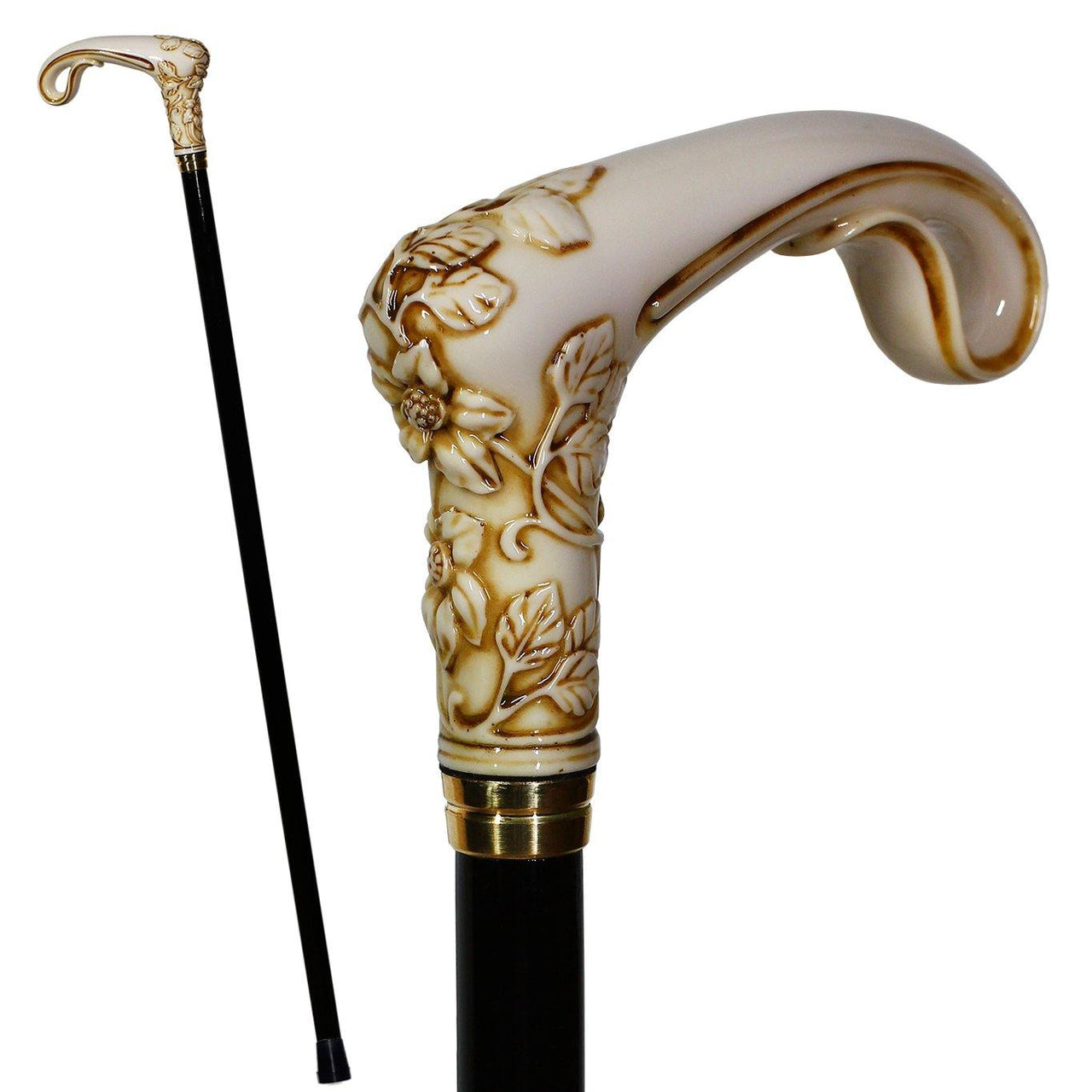 Elegy#2 Light Ivory Color Walking Stick Cane - GC-Artis Walking Sticks Canes