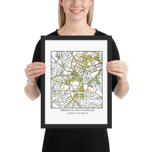 Greenville's (on the) Map | Framed Print
