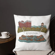 Greenville Landmarks | Premium Throw Pillow