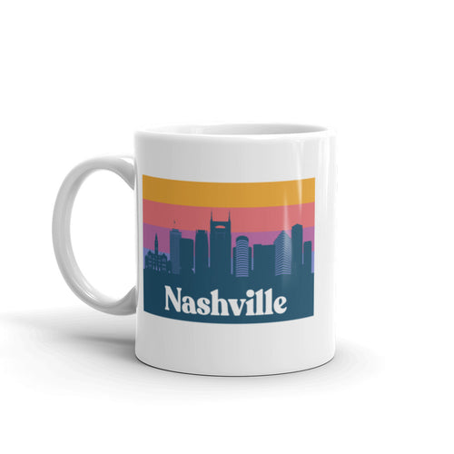 Skyline Sunset Mug | Nashville, TN