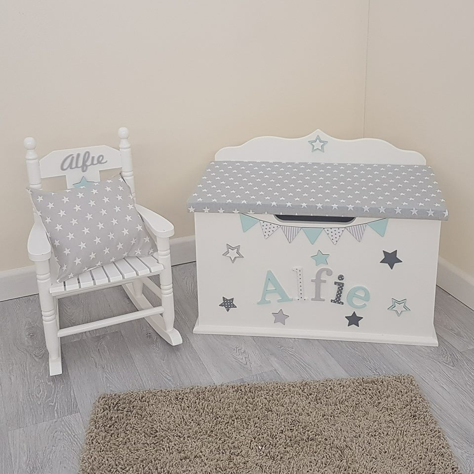 Toy box and Rocking Chair Bundle