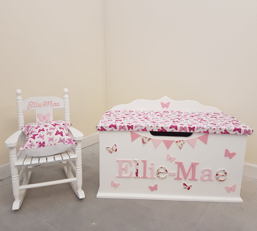 personalised toy box - butterfly design