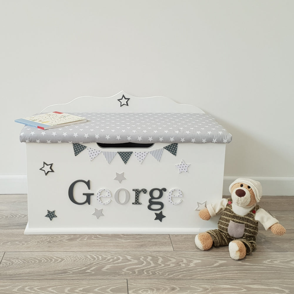 personalised toy box - star design