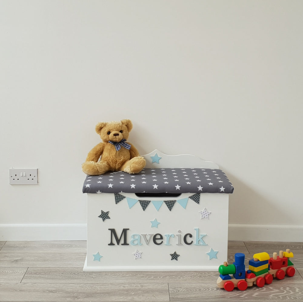 kids toy box with star design