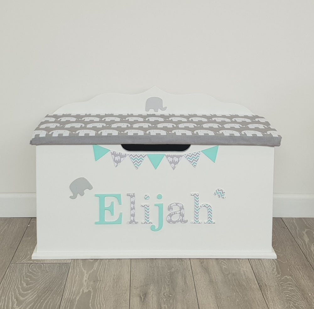 personalised toy box - elephant design