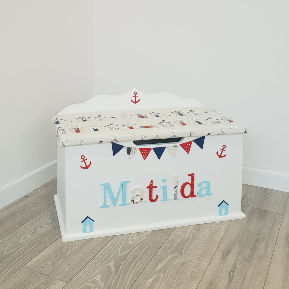 personalised toy chest - nautica design