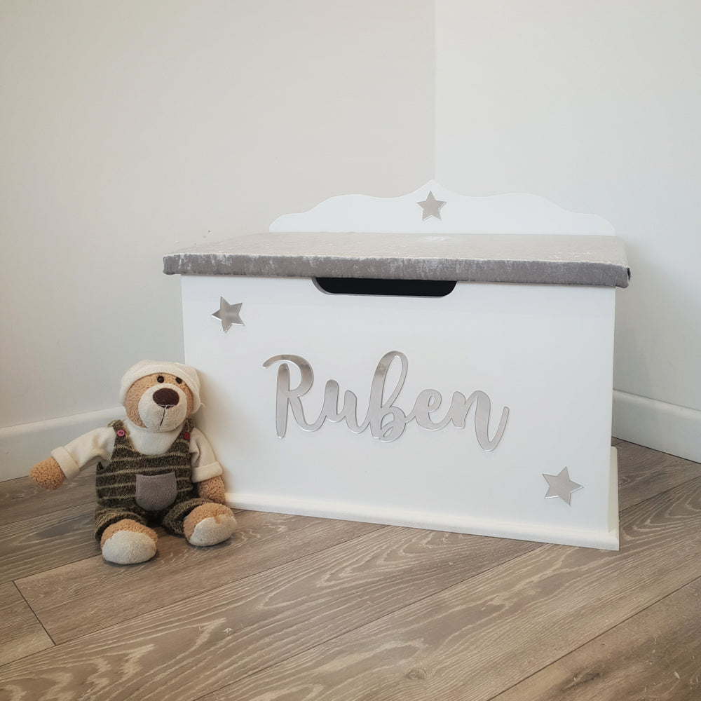 children's personalised toy box - glamour design