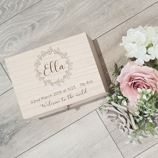Personalised Memory Keepsake Box