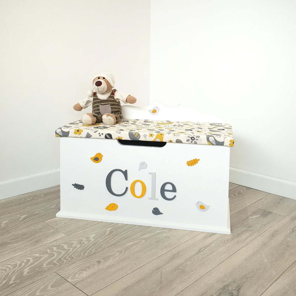 Ochre Birds Toy Box