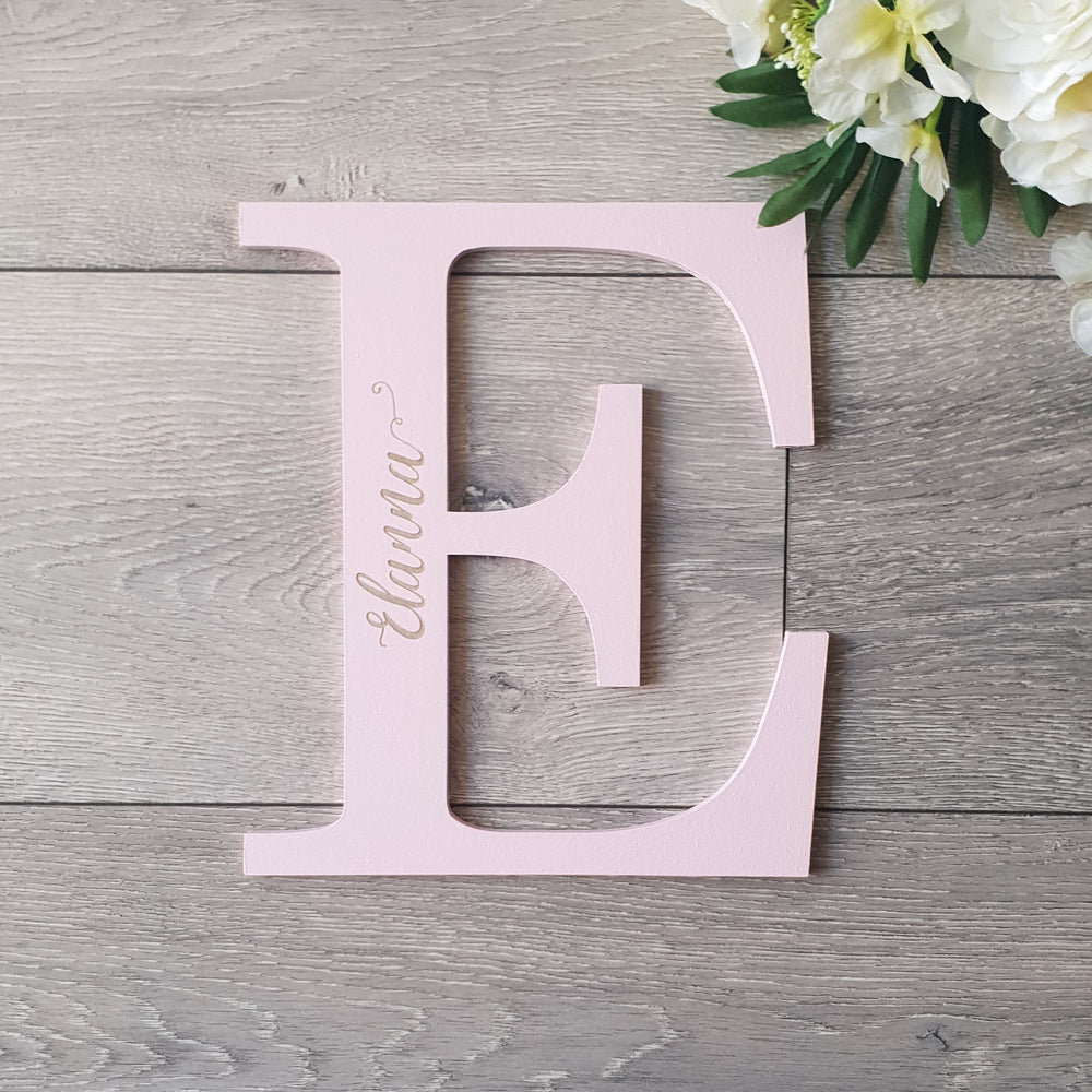 Wooden Wall Initial