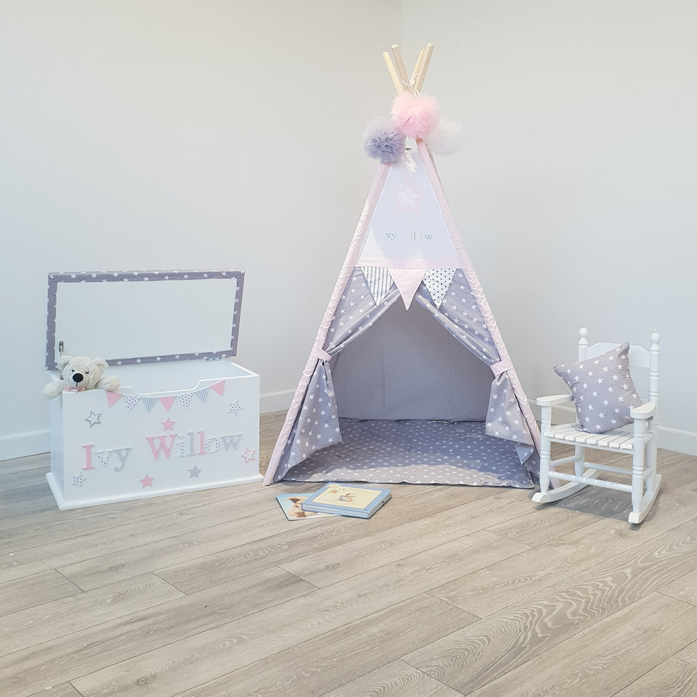 Toy Box, Teepee, Rocking Chair Bundle 1
