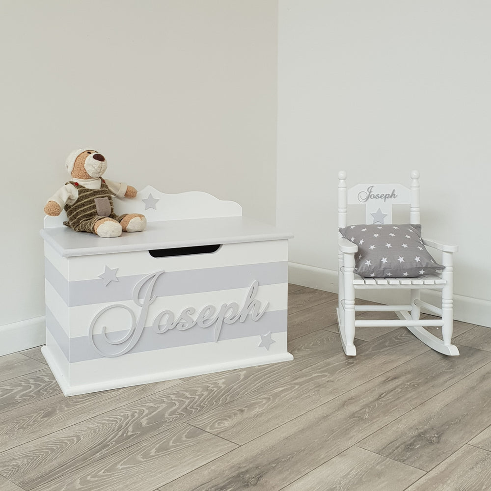 toy chest and racking chair bundle