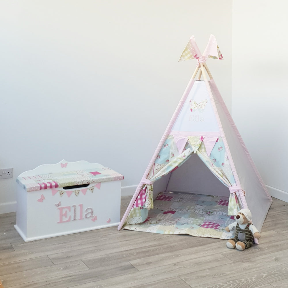 Toy Box, Teepee, Rocking Chair Bundle 3