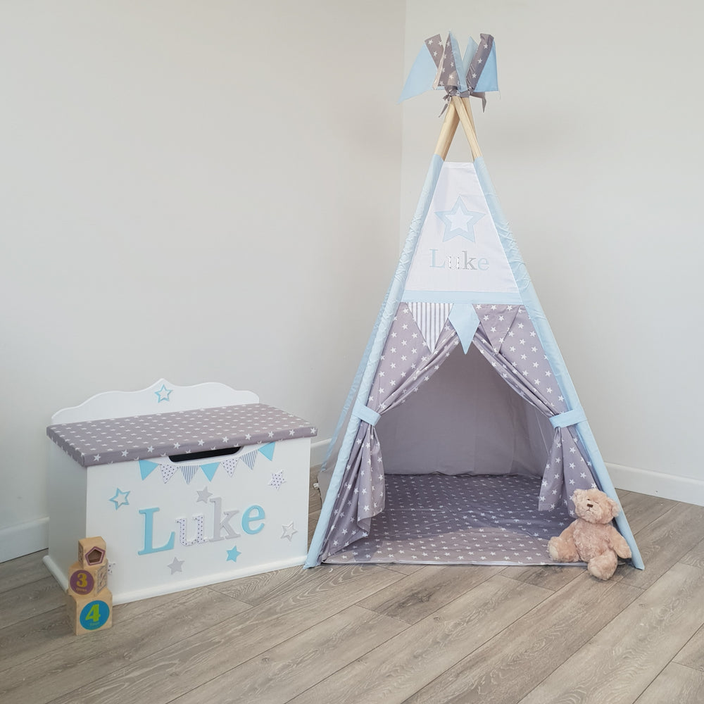 Toy Box, Teepee, Rocking Chair Bundle 2