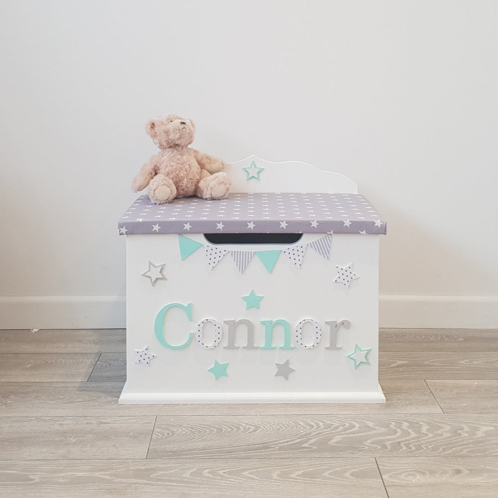 children's personalised toy box - star design