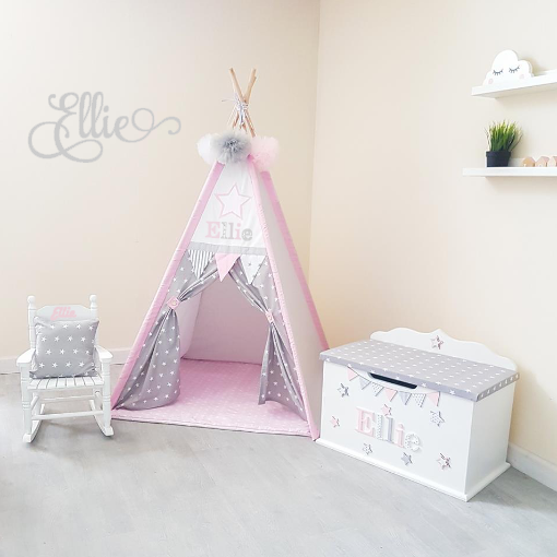 Toy Box, Booksling, Teepee, Rocking Chair Bundle