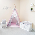 Teepee, racking chair and toy box bundle