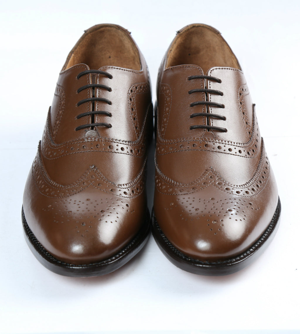 f5e5a05a5da26 CMAApparel Men's Leather Wingtip Oxford, with rounded toe in ...