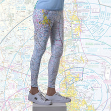 Load image into Gallery viewer, Brisbane Aviation Chart Leggings