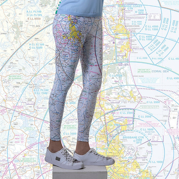 Brisbane Aviation Chart Leggings