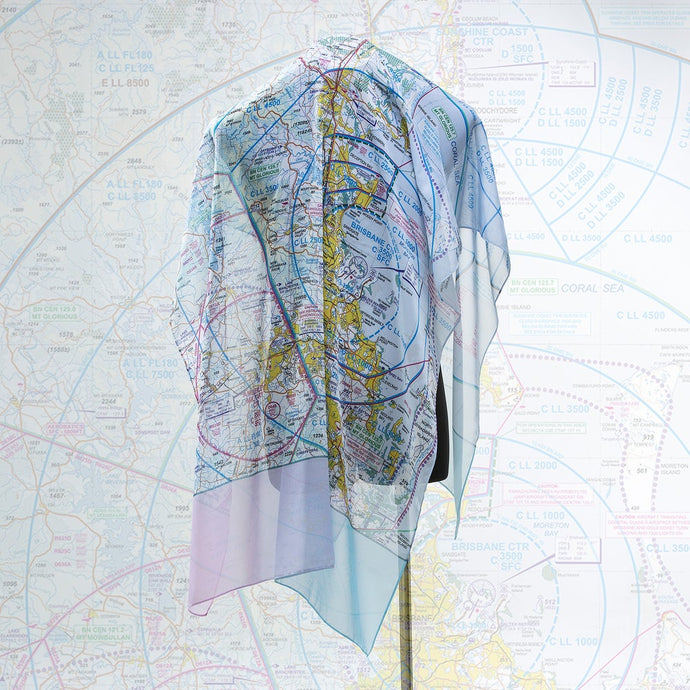 Brisbane Aviation Chart - Large Scarf