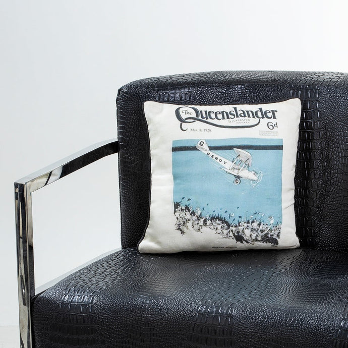 Aviation Cushion - Vintage Queenslander