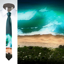 Load image into Gallery viewer, Australian Beach Aerial - Necktie