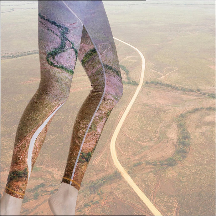 Road from Quilpie to Birdsville Leggings