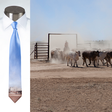 Load image into Gallery viewer, Mustering Cattle - Necktie