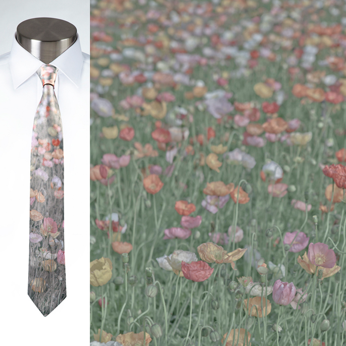 Poppies - Necktie