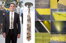 Load image into Gallery viewer, Study in Yellow & Grey - Necktie