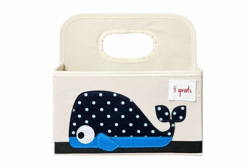 3 Sprouts Blue Whale Nappy Caddy