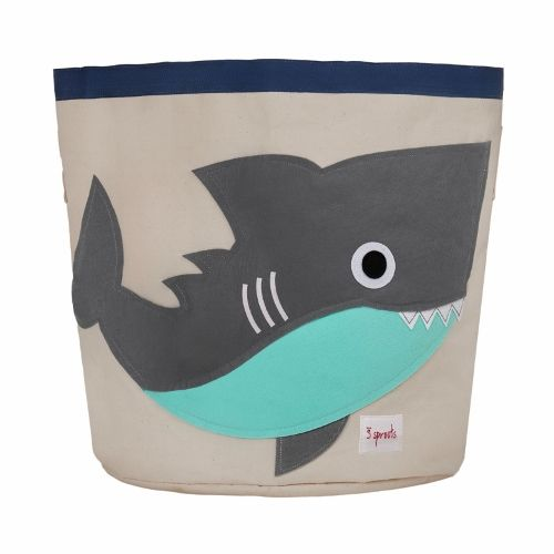 3 Sprouts Grey Shark Storage Bin