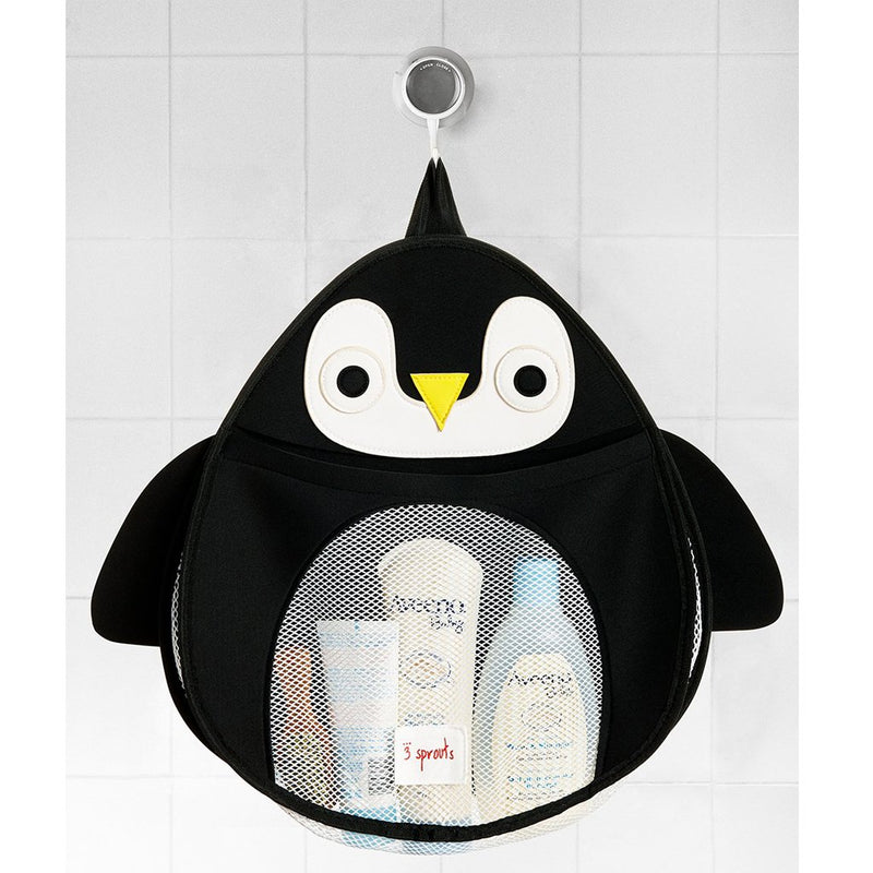 3 Sprouts Penguin Bath Storage