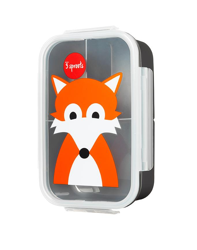 3 Sprouts Grey Fox Bento Box