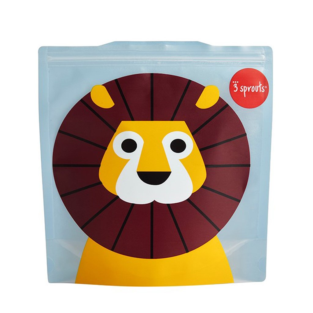 3 Sprouts Lion Reusable Sandwich Bag (2 Pack)