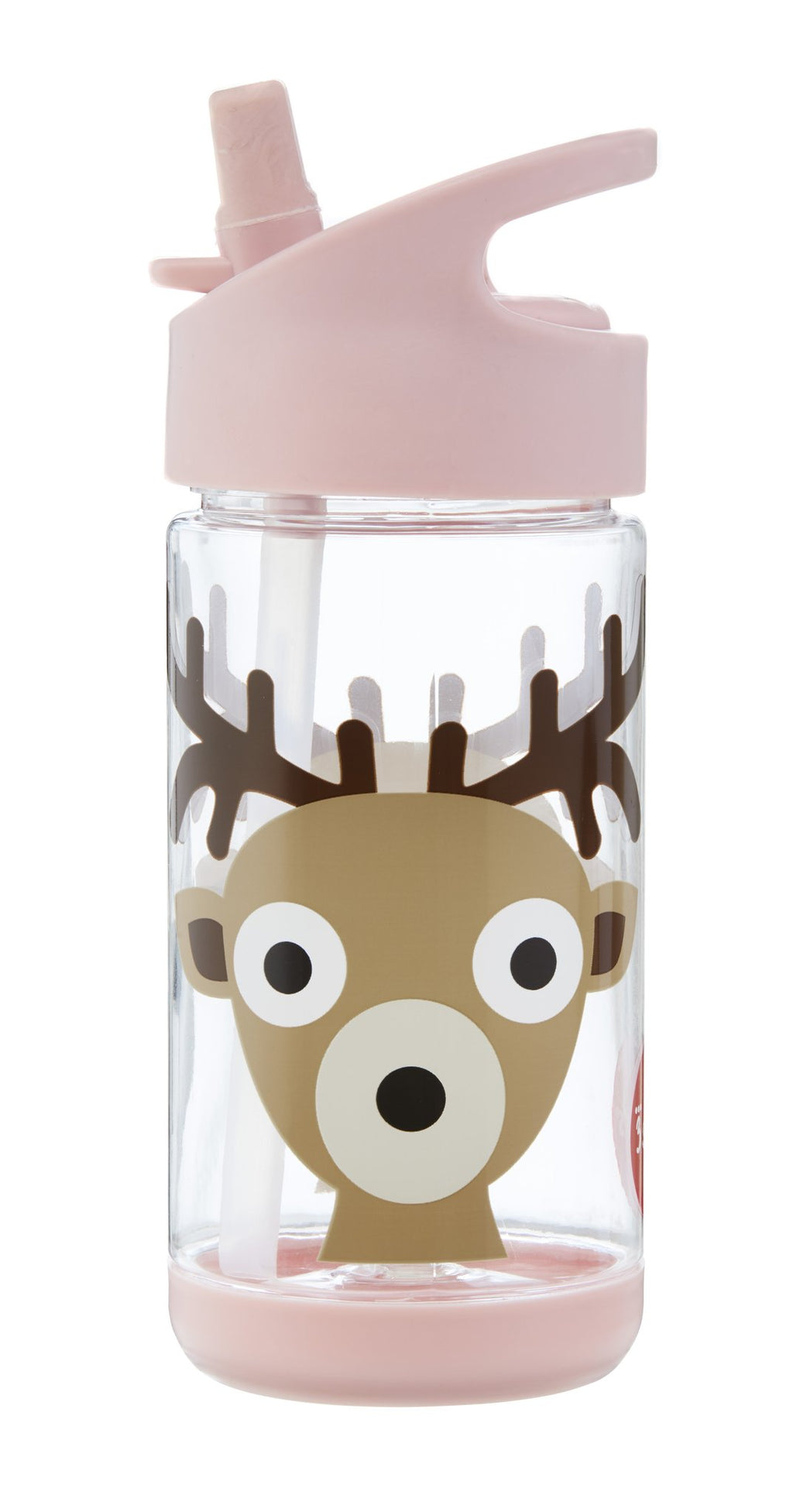 3 Sprouts Pink Deer Water Bottle