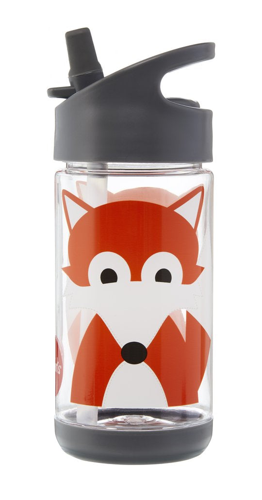 3 Sprouts Grey Fox Water Bottle Fox