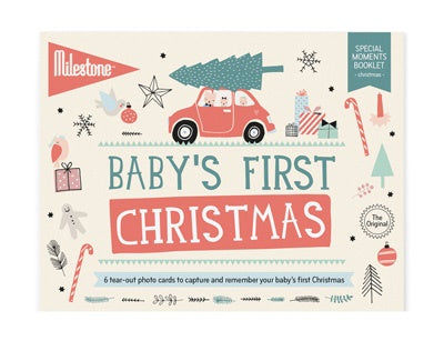 """Baby's First Christmas"" Photo Cards by Milestone"