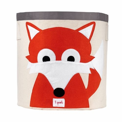 3 Sprouts Fox Orange Storage Bin