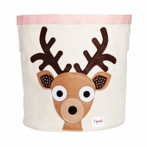 3 Sprouts Deer Toffee Storage Bin