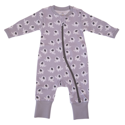 Ellie Elephant Organic Cotton ZippyBoo